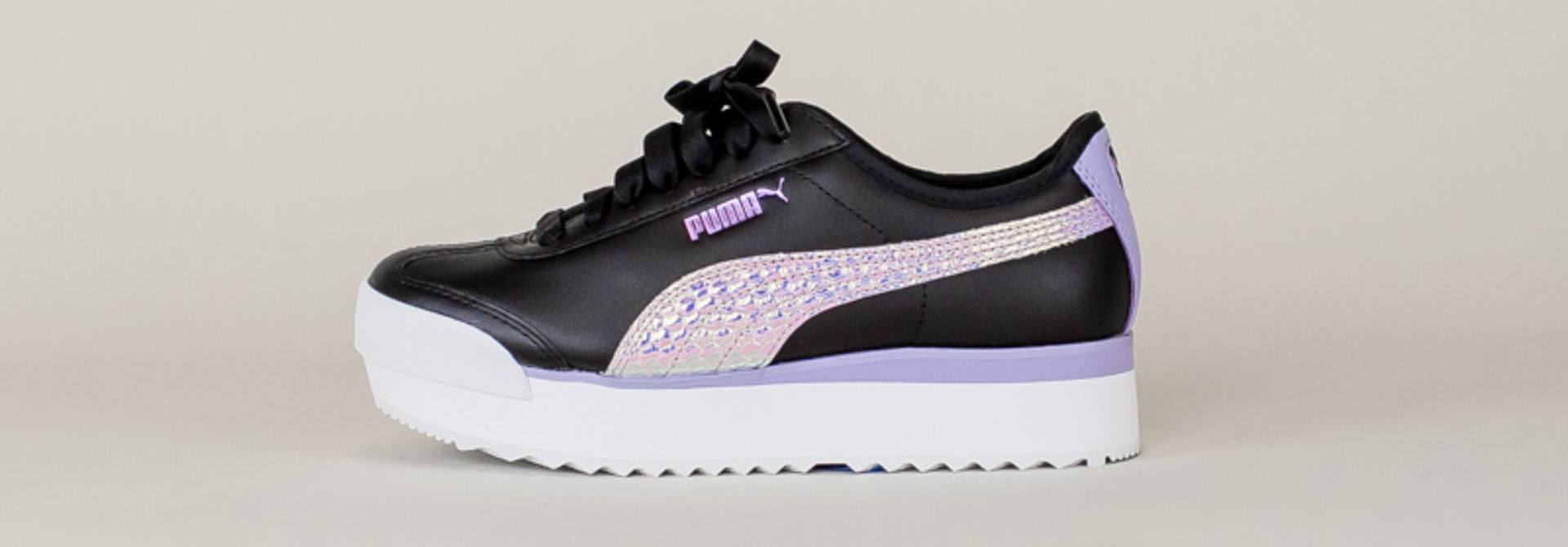 Puma Roma Amor Metallic - Black/ Purple