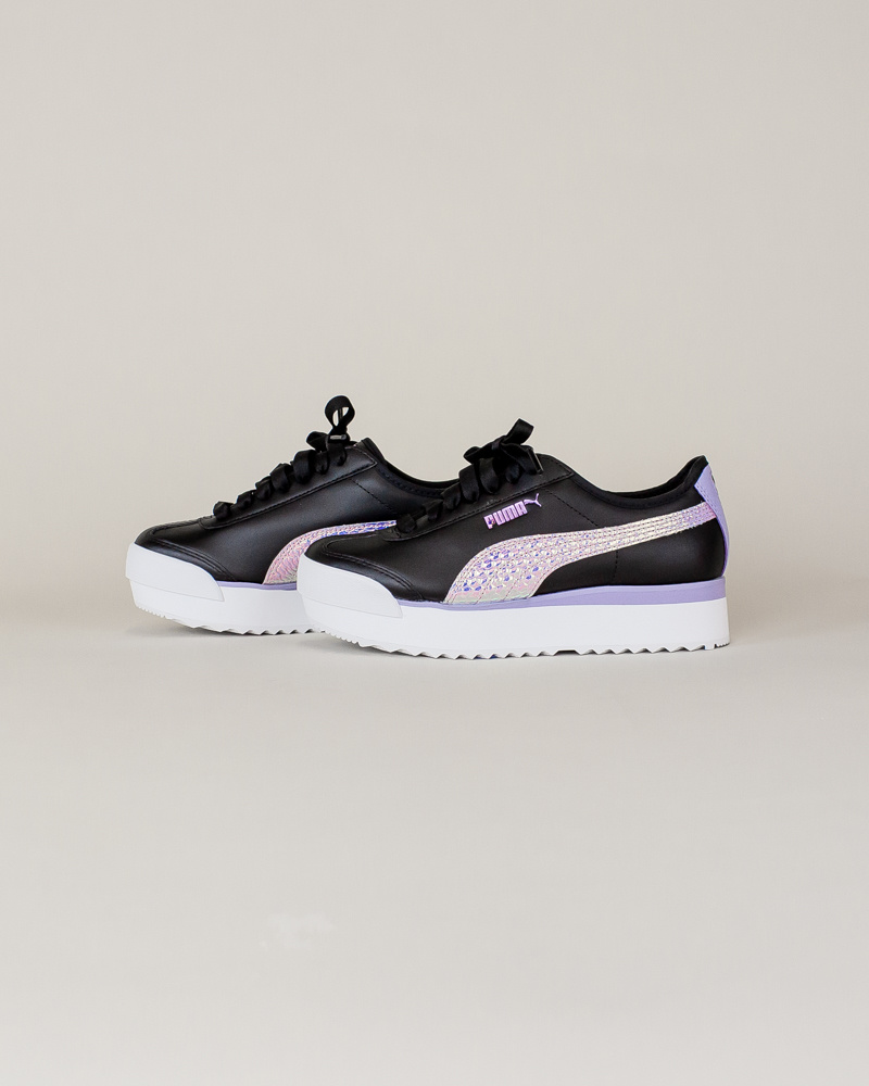 Puma Roma Amor Metallic - Black/ Purple-2