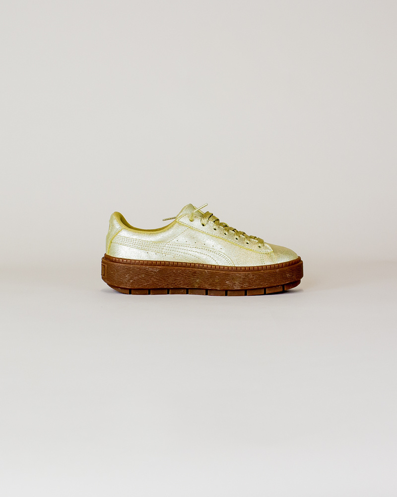 Puma Basket Platform - Gold-4