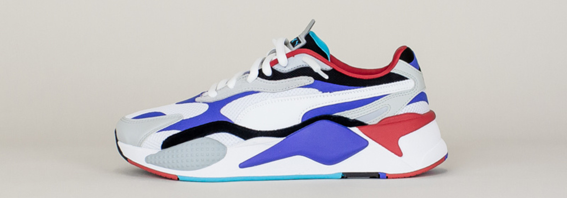 Puma RS-X3 Puzzle - White/Red/Blue