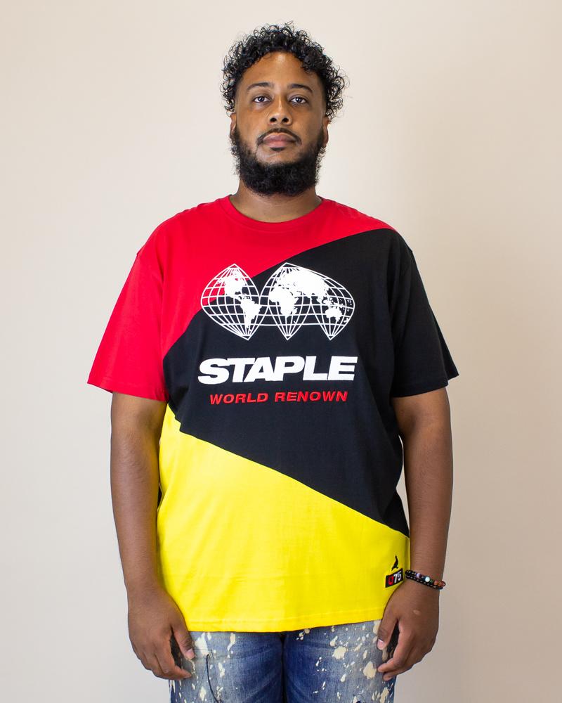 Staple World Race Logo Shirt - Black-1