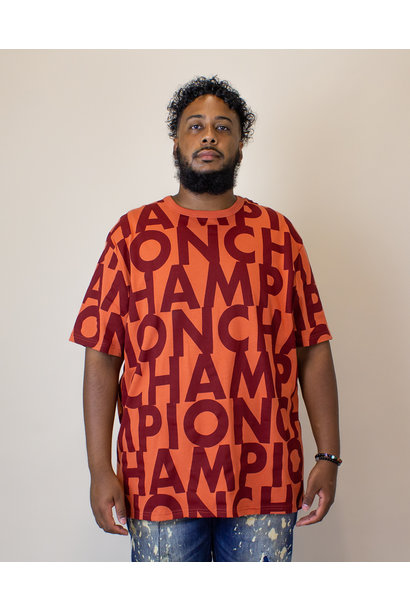 Champion Big Block S/S T- Shirt - Rust