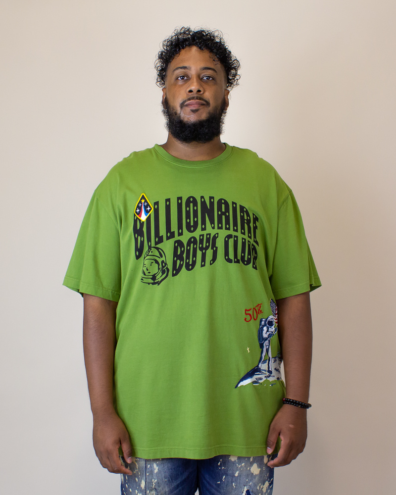 Billionaire Boys Moonwalk S/S Knit - Green-1