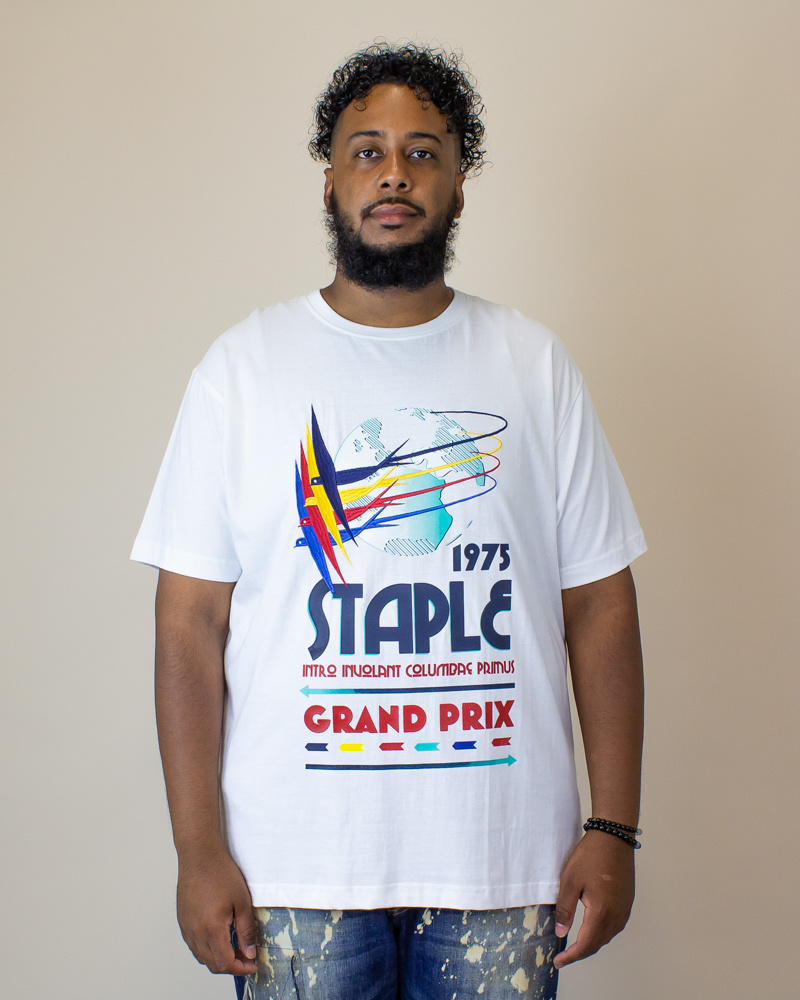 Staple Grand Prix Intro Shirt - White-1