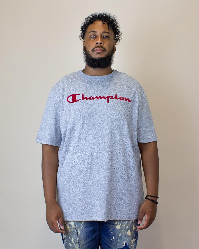 Champion Heritage Mock Twist S/S T-Shirt - Indigo Screen-1