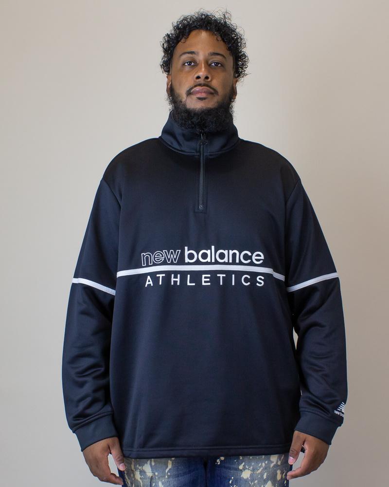 New Balance Track 1/4 Zip - Black-1