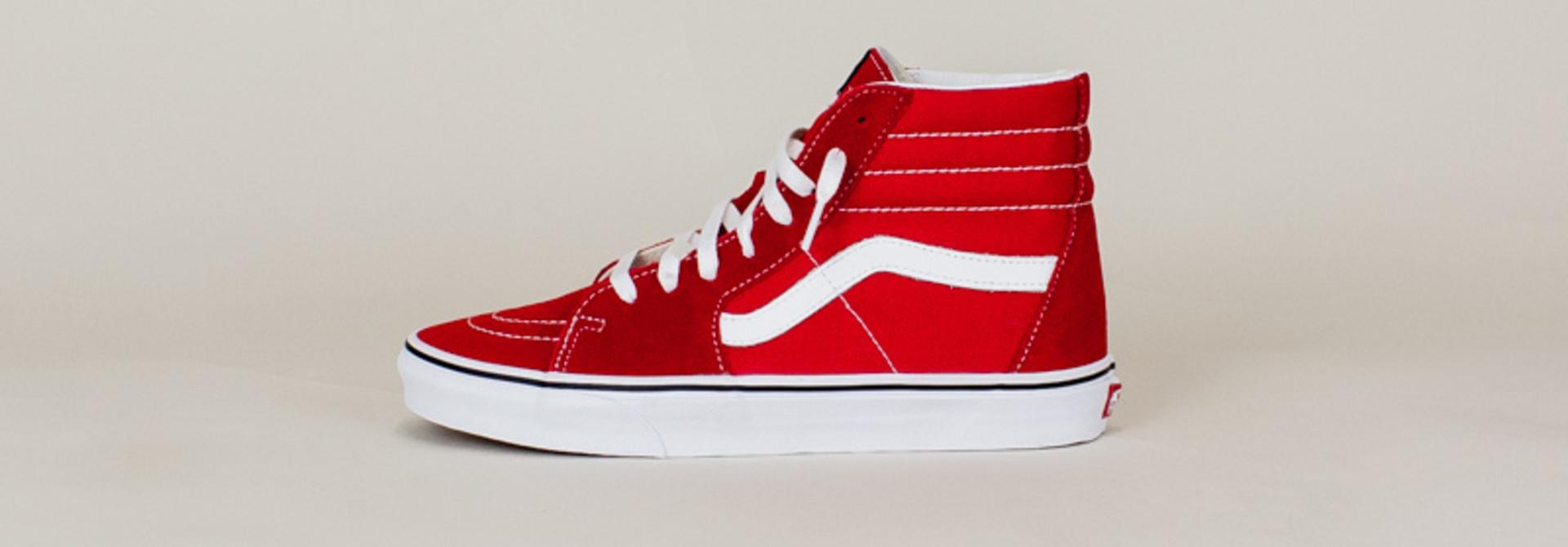 Vans Sk8-Hi - Racing Red/ Tr White