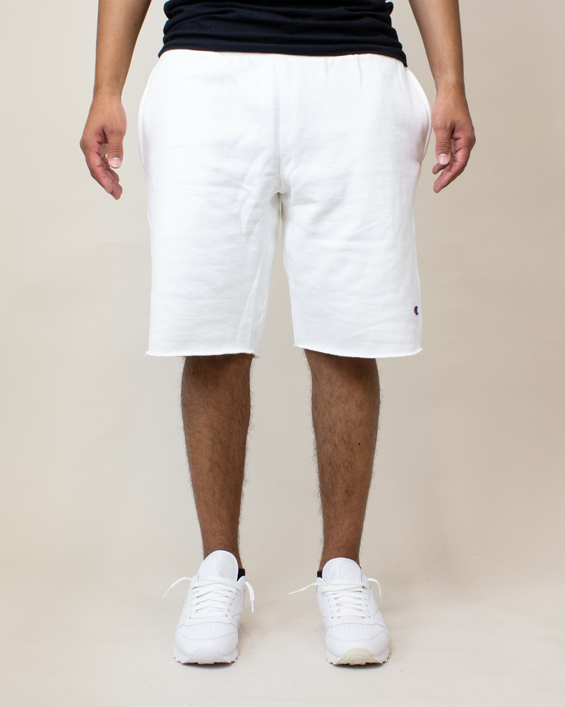 Champion Reverse Weave Cut-Off Shorts - White-1