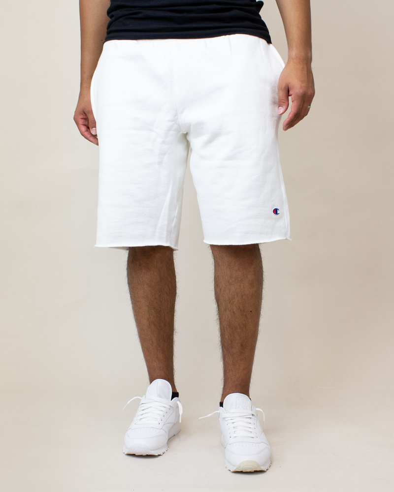 Champion Reverse Weave Cut-Off Shorts - White-2