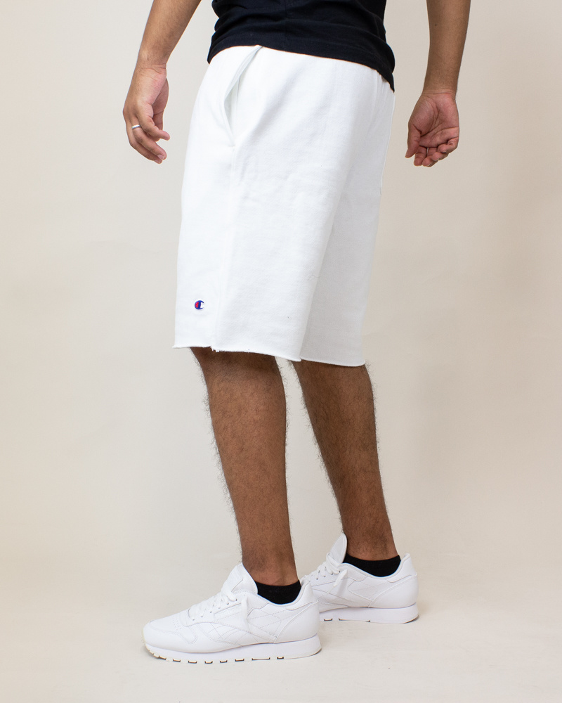 Champion Reverse Weave Cut-Off Shorts - White-3