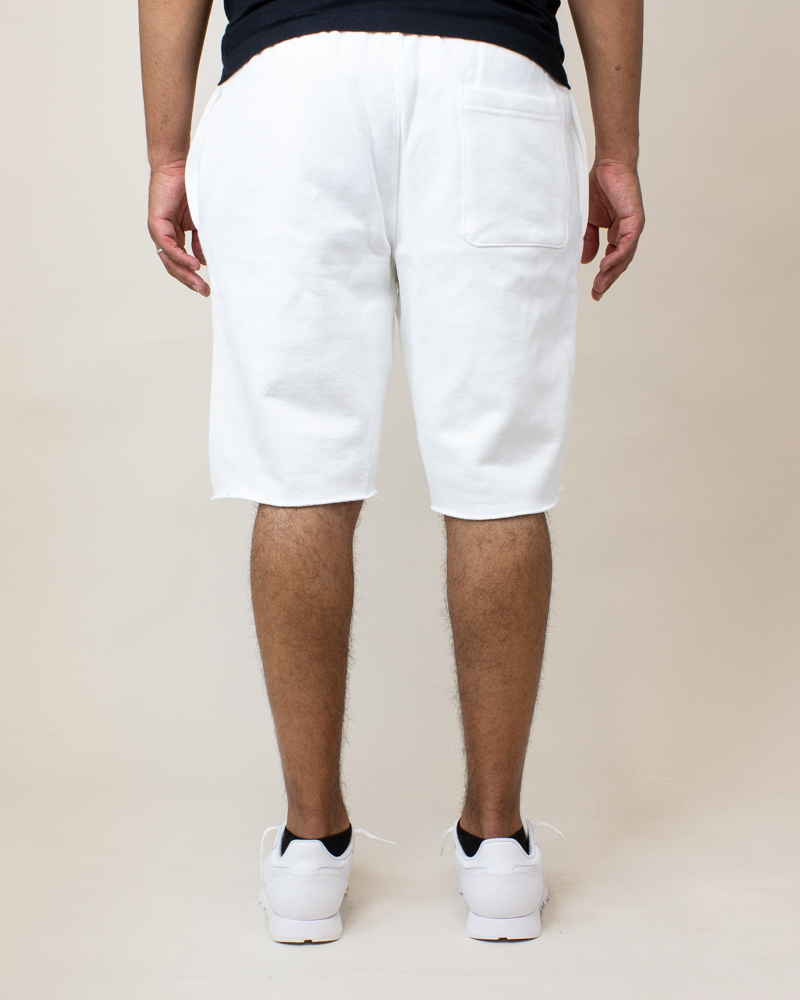 Champion Reverse Weave Cut-Off Shorts - White-4