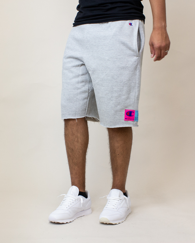 Champion Reverse Weave Cut-Off Shorts - Gray-2