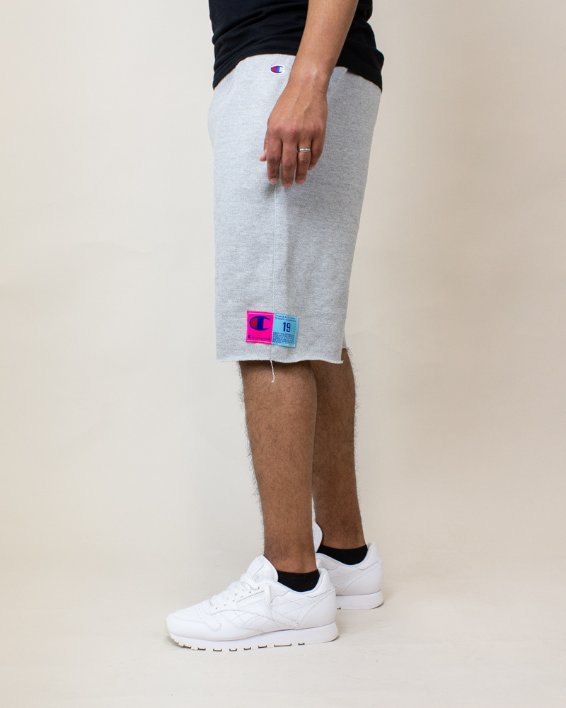 Champion Reverse Weave Cut-Off Shorts - Gray-3