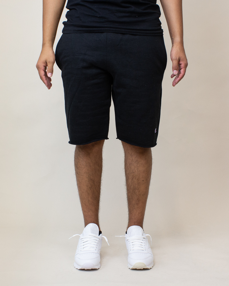 Champion Reverse Weave Cut-Off Shorts - Black-1