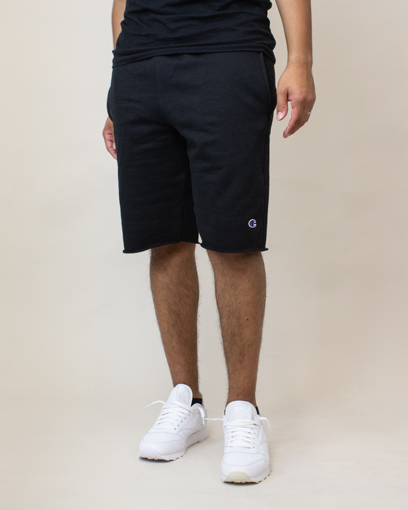 Champion Reverse Weave Cut-Off Shorts - Black-2