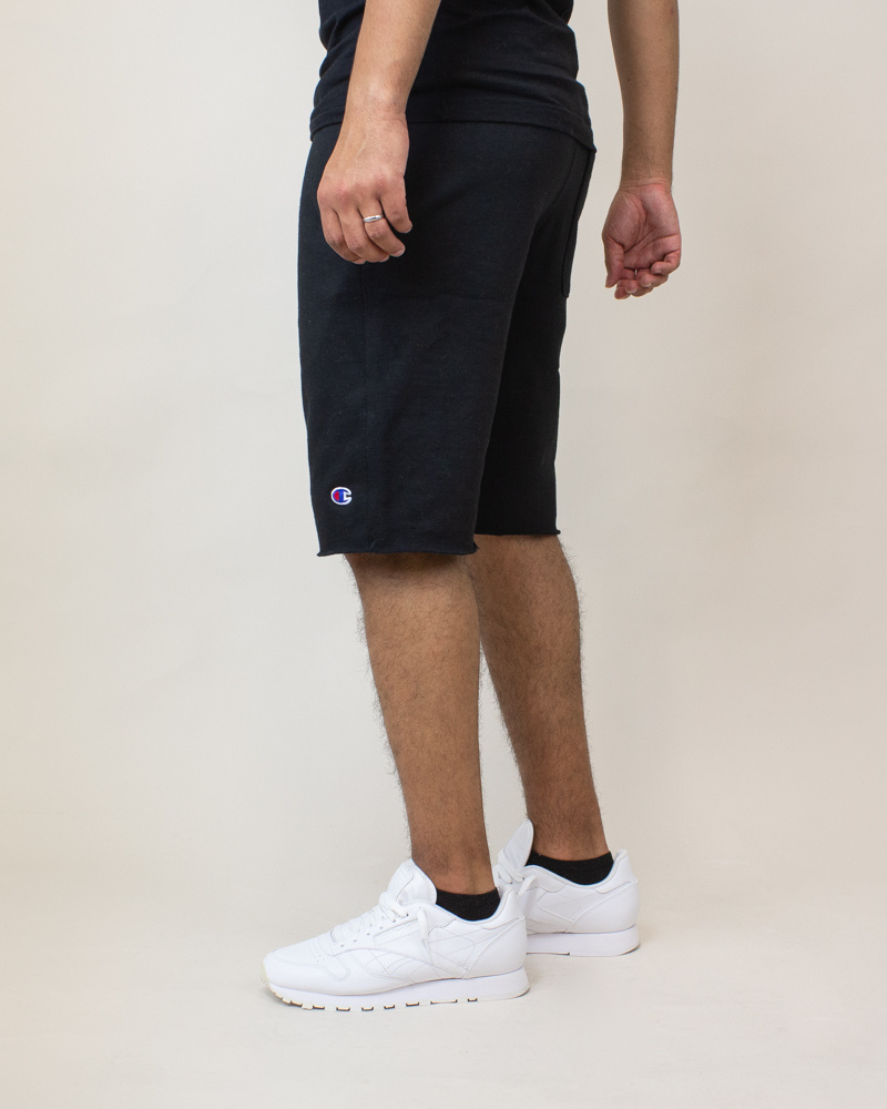 Champion Reverse Weave Cut-Off Shorts - Black-3