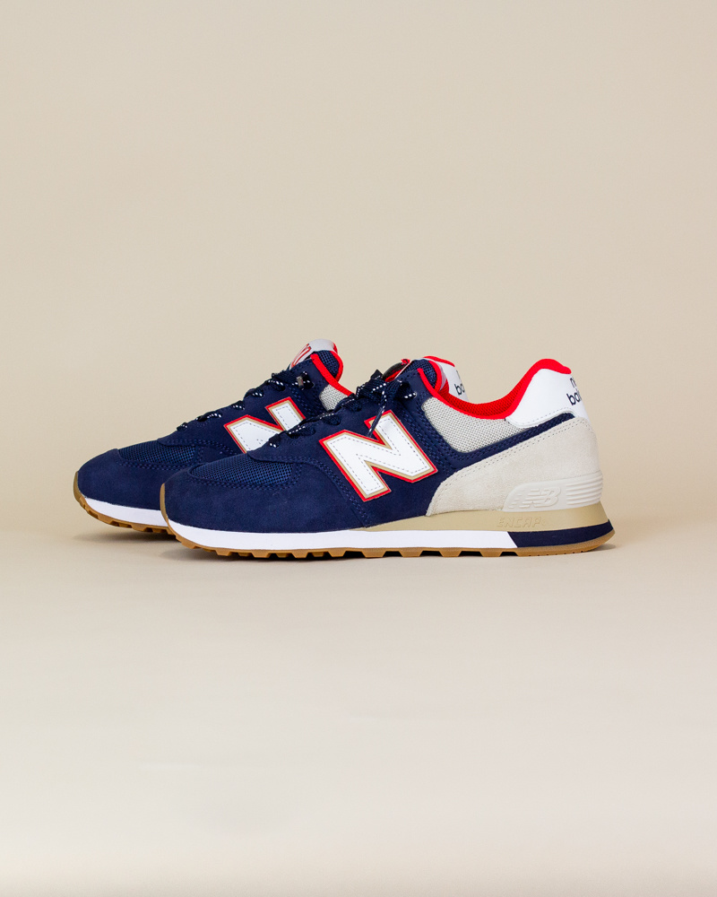 New Balance 574 SKB - Navy/ Energy Red-2