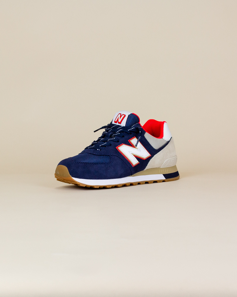 New Balance 574 SKB - Navy/ Energy Red-3