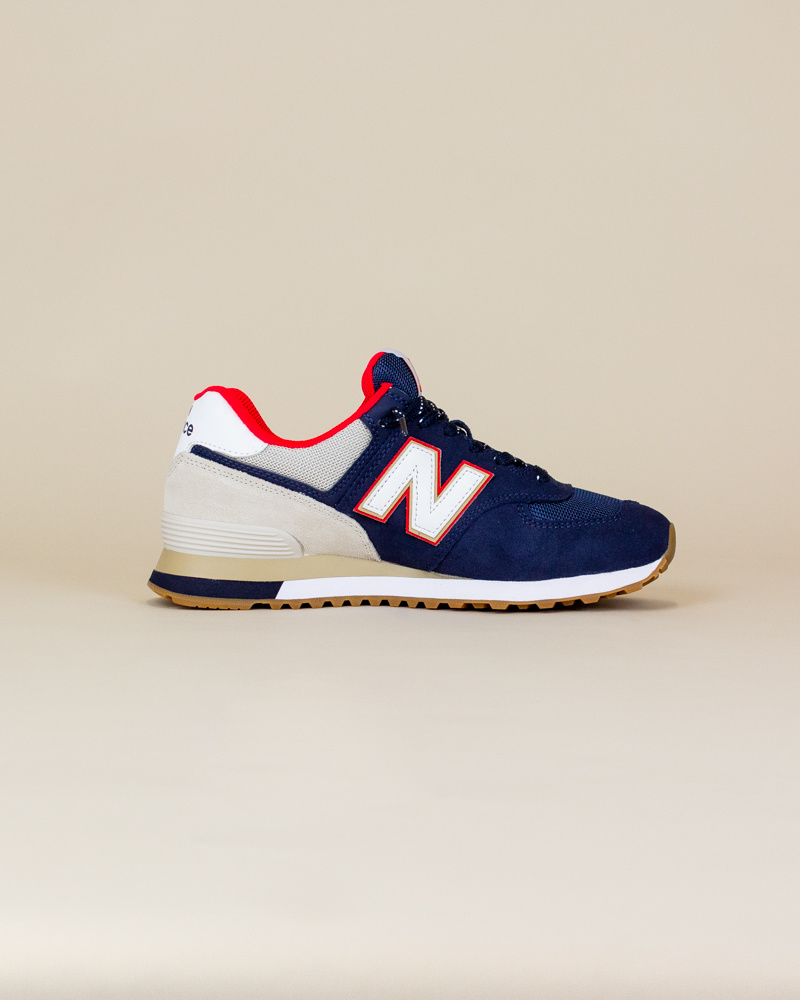 New Balance 574 SKB - Navy/ Energy Red-4