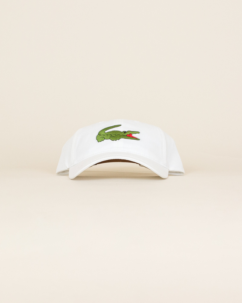 Lacoste Big Croc Cap - White-1