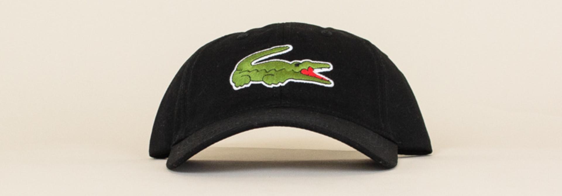 Lacoste Big Croc Cap - Black