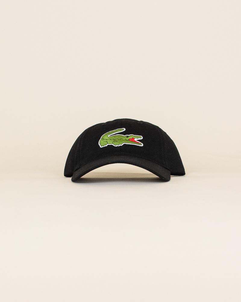 Lacoste Big Croc Cap - Black-1