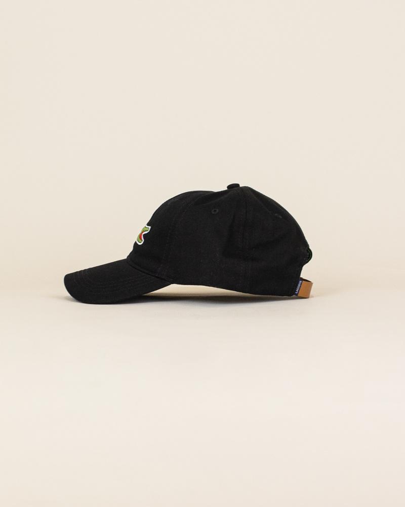 Lacoste Big Croc Cap - Black-2