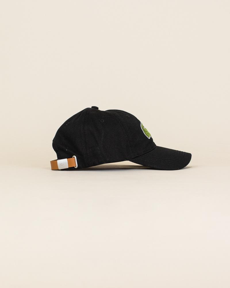 Lacoste Big Croc Cap - Black-3