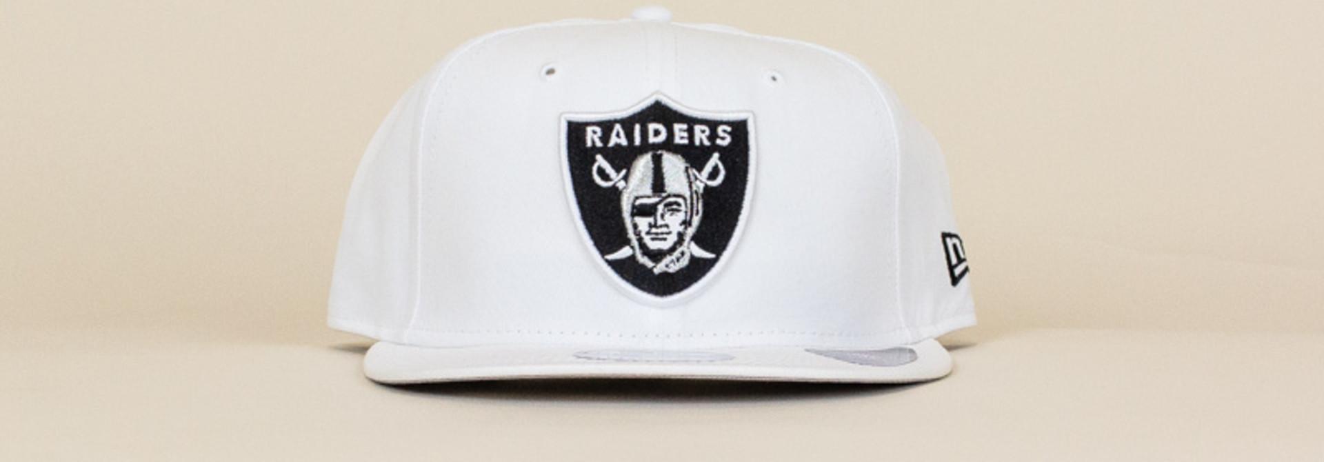 New Era Las Vegas Raiders Snapback Hat - White