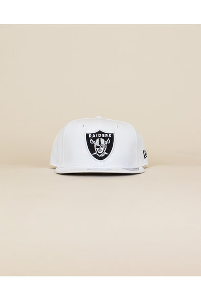 New Era Las Vegas Raiders Snapback Hat - White