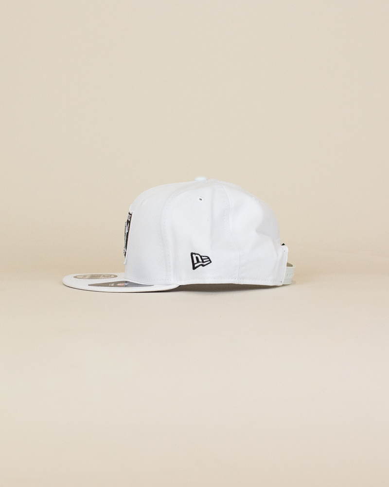 New Era Las Vegas Raiders Snapback Hat - White-2