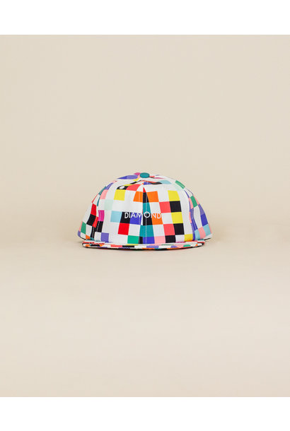 Diamond Supply Pixel Hat - White