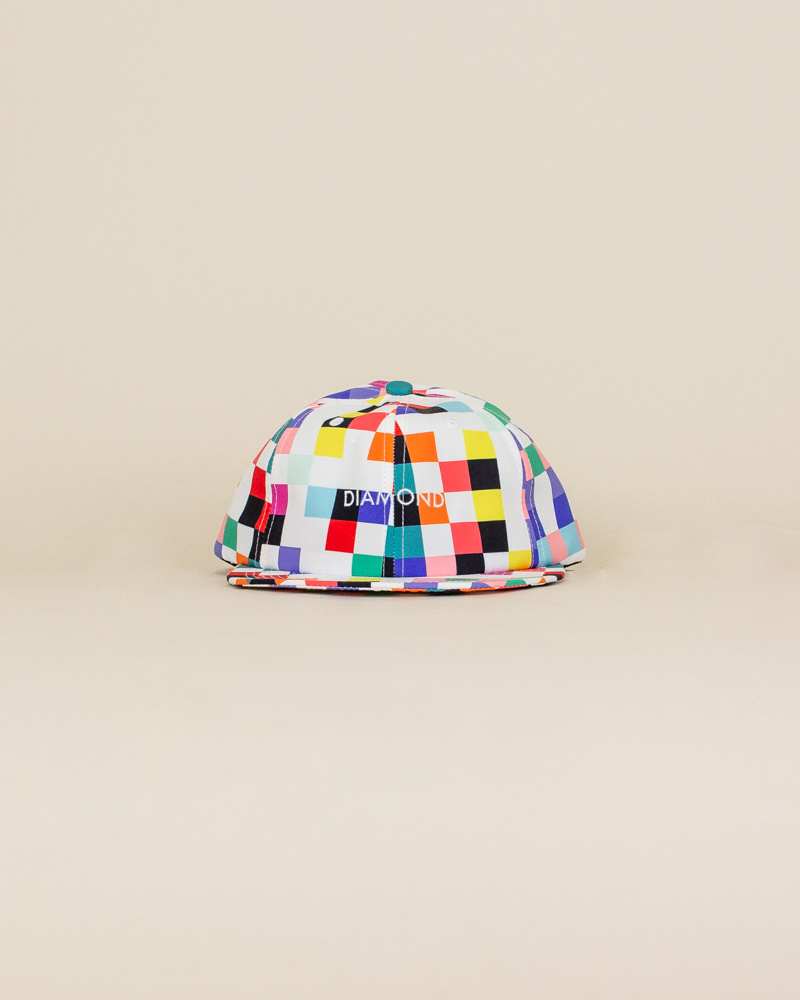 Diamond Supply Pixel Hat - White-1