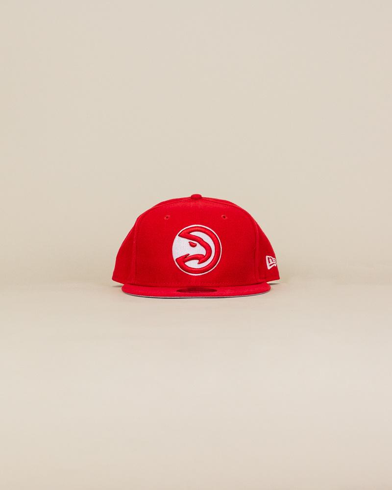 New Era Atlanta Hawks Snapback Hat - Red-1