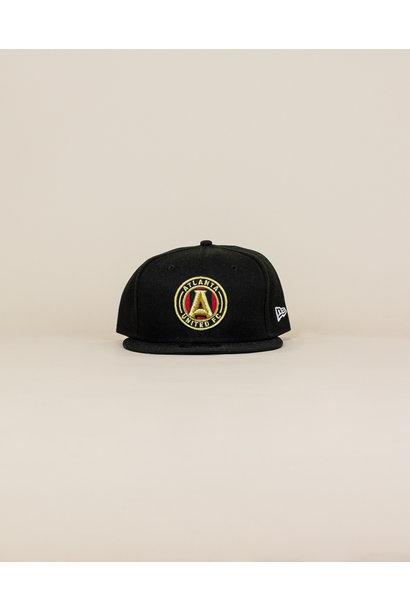 New Era Atlanta United Fc Snapback Hat - Black