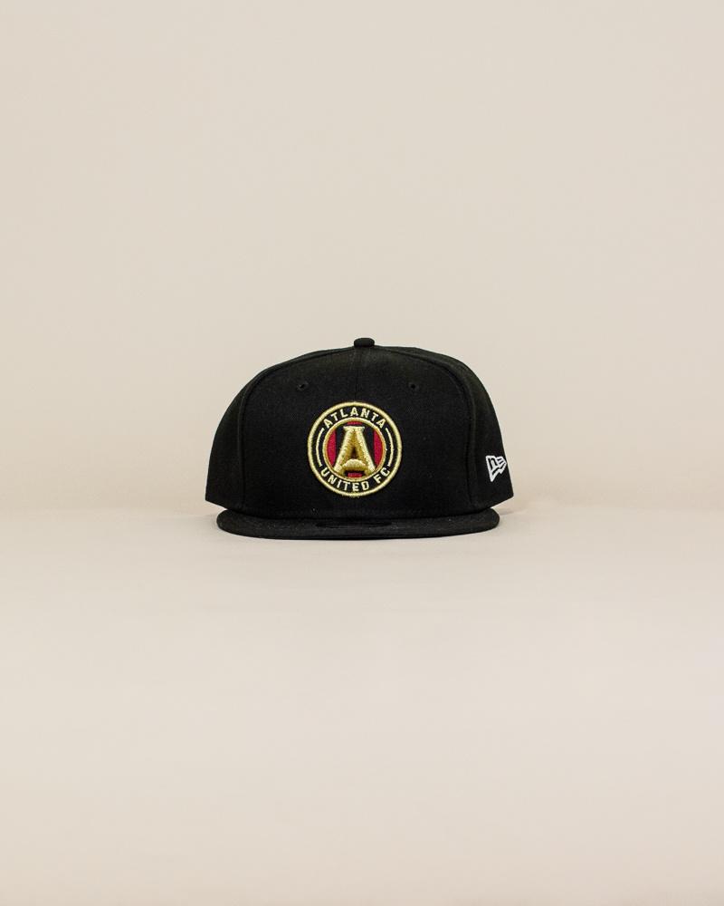 New Era Atlanta United Fc Snapback Hat - Black-1
