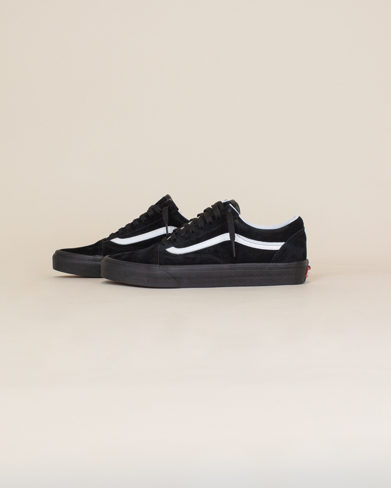 Vans Old Skool Pig Suede - Black/White-2