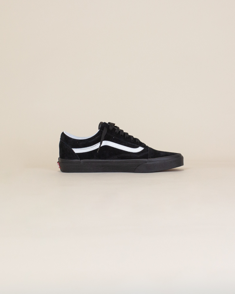 Vans Old Skool Pig Suede - Black/White-4