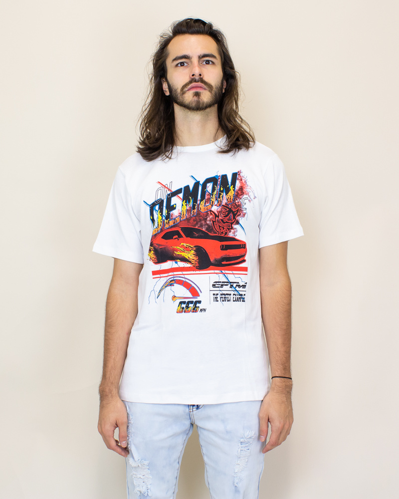 EPTM On Demon Time Tee - White/Red-1