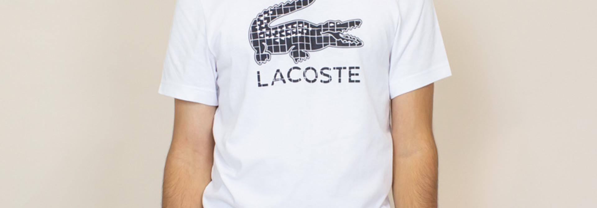 Lacoste 3D Print Crocodile Jersey T-shirt - White