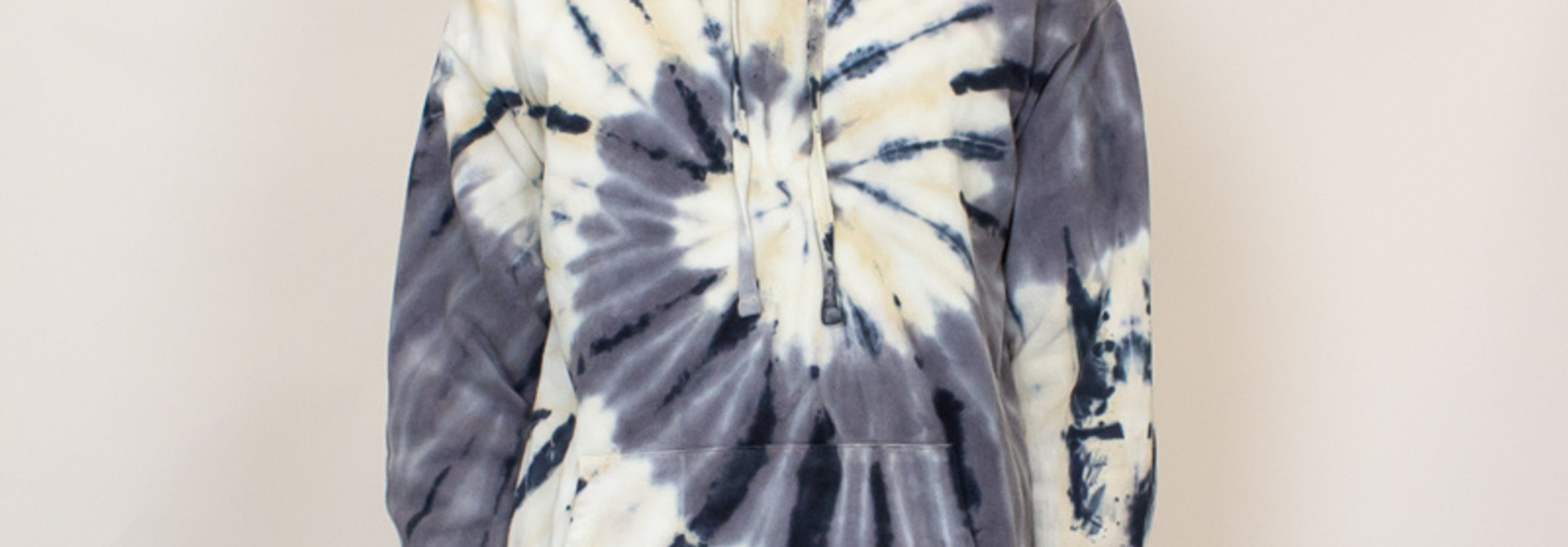 EPTM Tie Dyed Hoodie - Gray/Cream