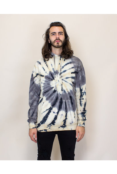 EPTM Tie Dyed Hoodie - Gray/Cream