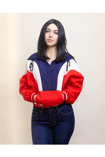 Favlux Crop Windbreaker Jacket - Red
