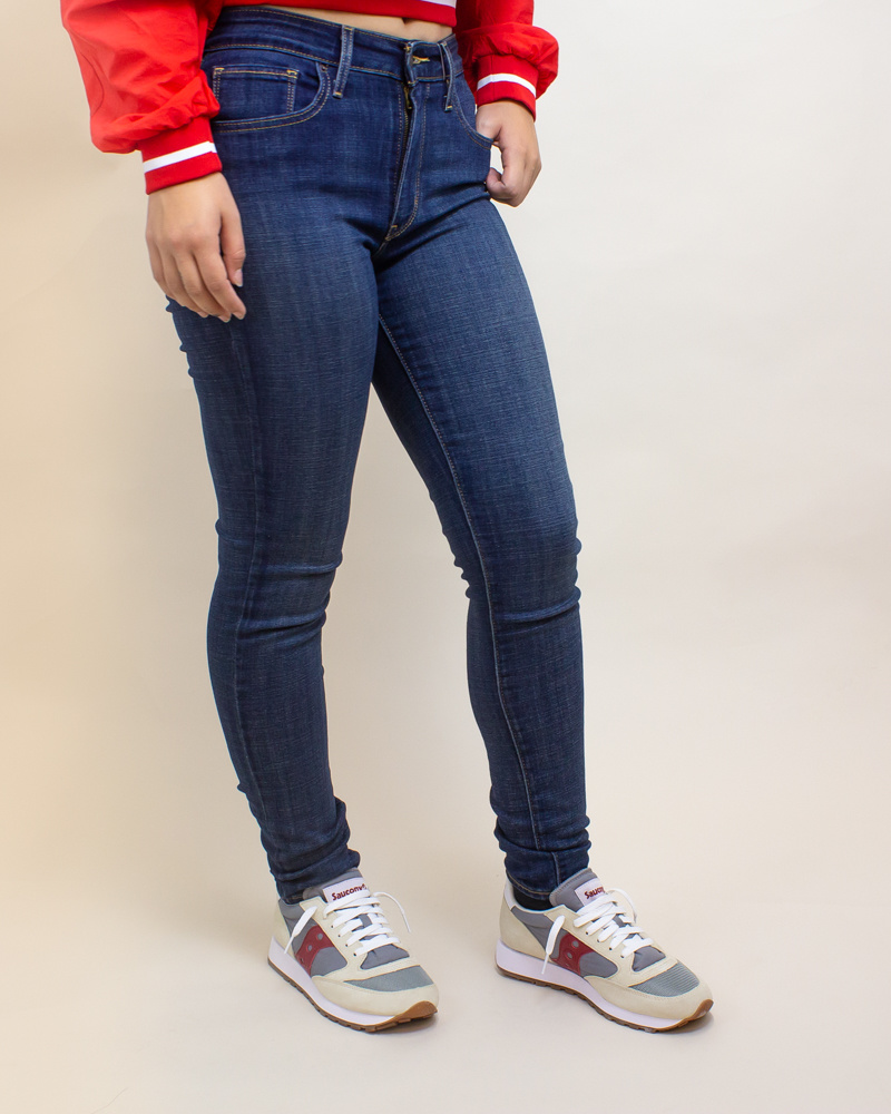 Levi's 721 High Rise Skinny Jeans - Blue Story-2