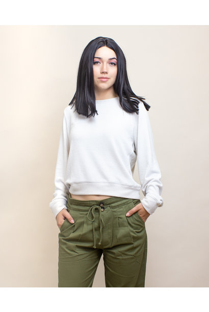 Double Zero Crop Sweater - Alpaca