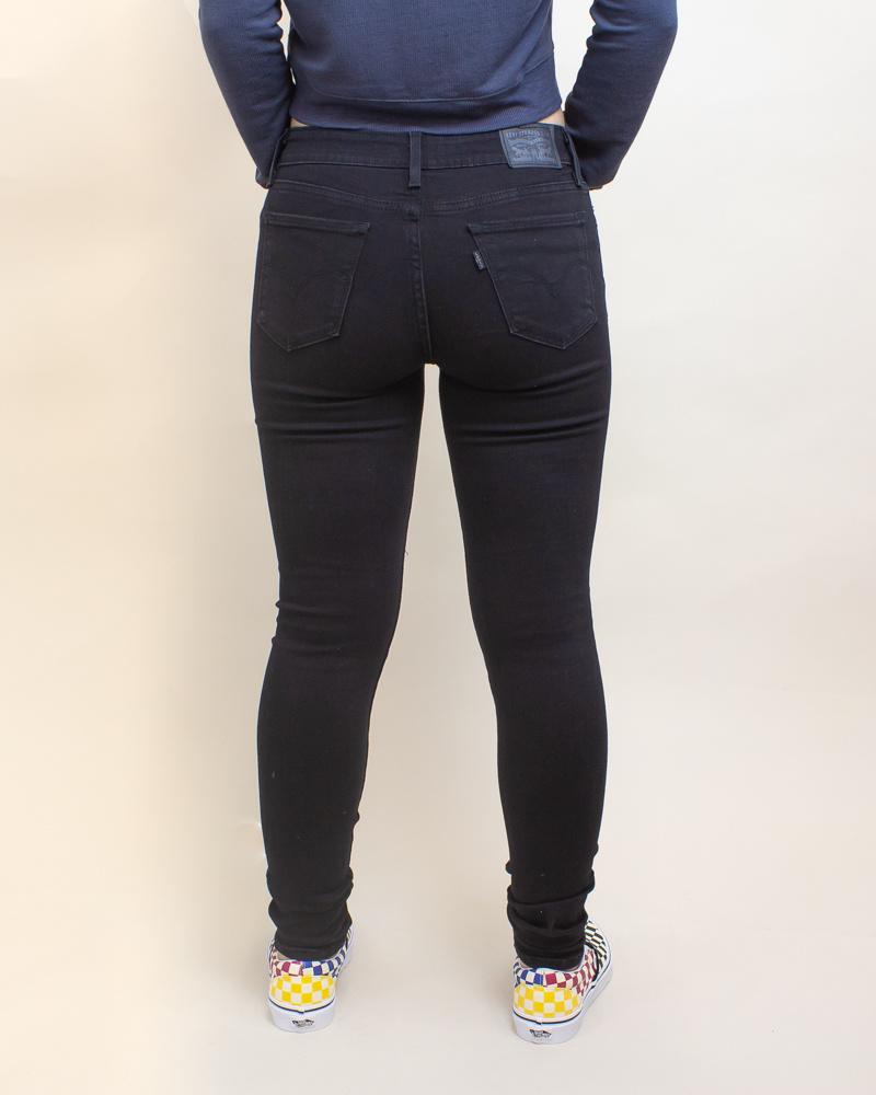 Levi's 711 Skinny Jeans - Mystery Black-4