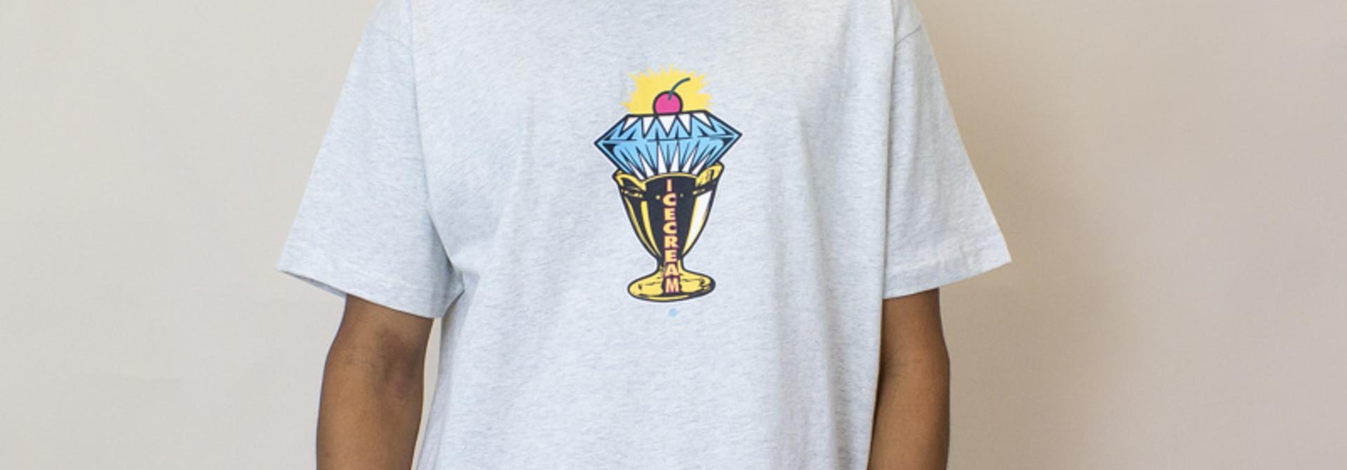 Icecream Diamond SS Tee - Light Heather Grey