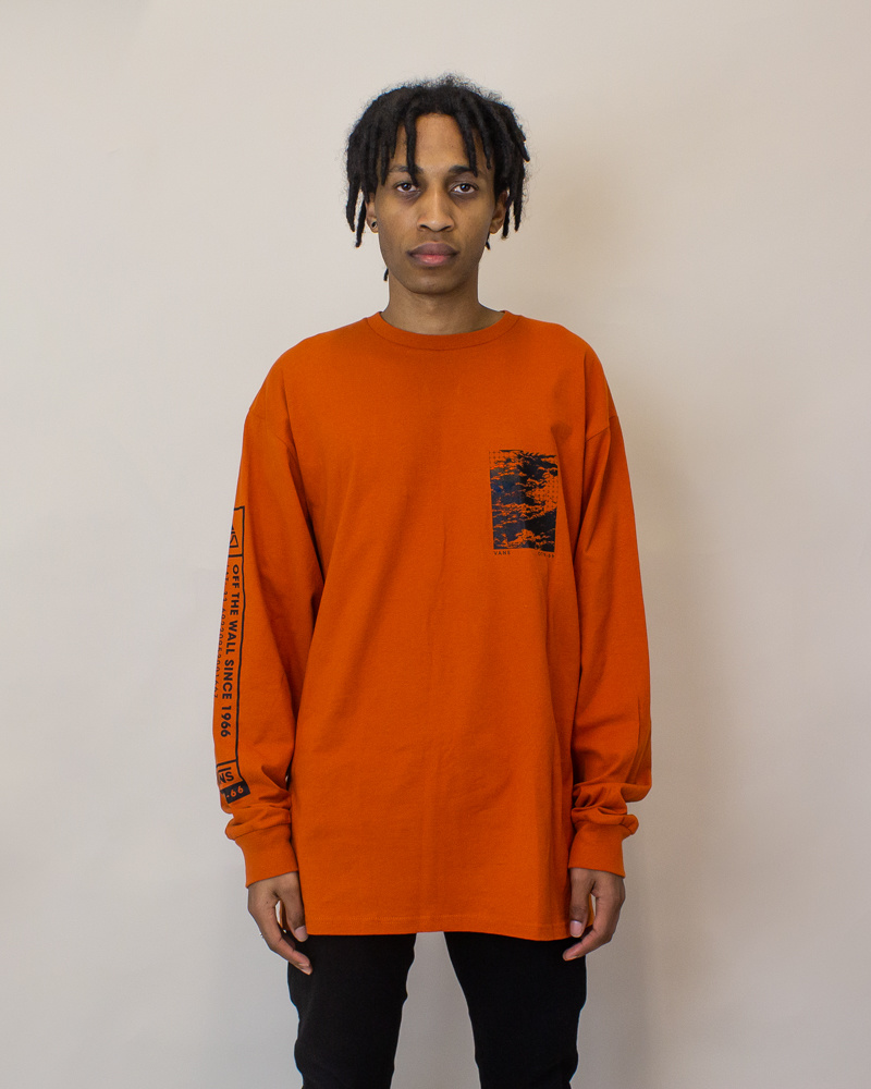 Vans 66 Supply L/S T-Shirt - Orange-1