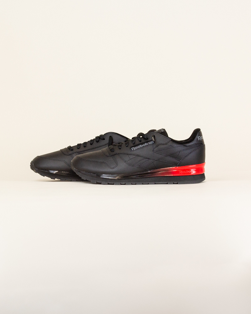 Reebok Classic Leather - Black/Red-2