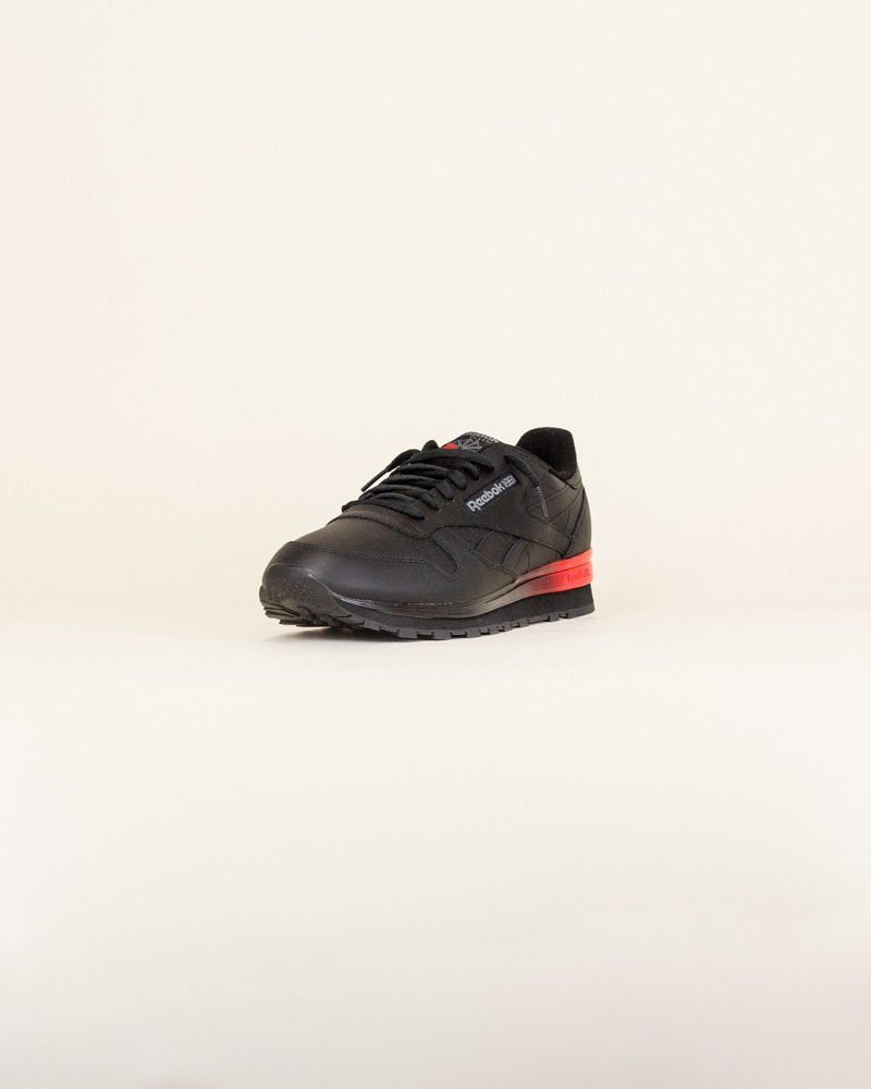 Reebok Classic Leather - Black/Red-3